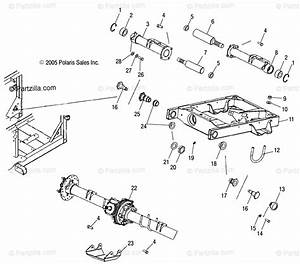 Polaris Side By Side 2007 Oem Parts Diagram For Swing Arm