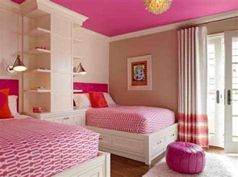 Spaceefficient And Chic Shared Girls' Bedroom Design Ideas
