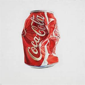 Saatchi Art: Crushed Coke Painting by Nancy Whitehead
