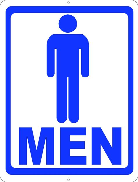 Bathroom Sign by Mens Room W Symbol Bathroom Sign Signs By Salagraphics