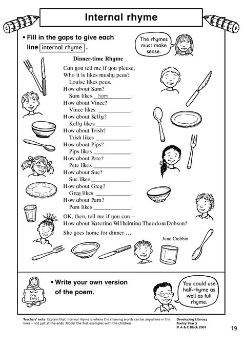 Worksheets writing couplets ibookread Download