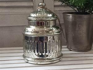 Deko Karton Mit Deckel : gro e nostalgie deko dose aus glas mit deckel bauernsilber shabby chic 20x14 ebay ~ Frokenaadalensverden.com Haus und Dekorationen