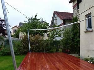 Voile Pour Terrasse : terrasse en afzelia avec voile d 39 ombre ~ Premium-room.com Idées de Décoration