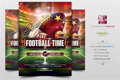 Dynamic Football Poster Fully Editable Trackback
