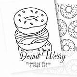 Donut Coloring Pages Printable Worry Adult Donuts Instant Loading Coffee Getcolorings Template sketch template