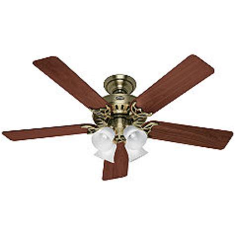 hunter studio series 52 quot antique brass ceiling fan at menards 174