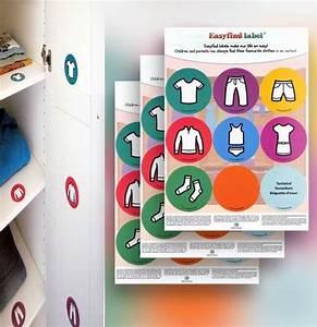 Aufkleber Für Kinder : aufkleber f r kinder kleiderschrank organizieren baby ~ Kayakingforconservation.com Haus und Dekorationen