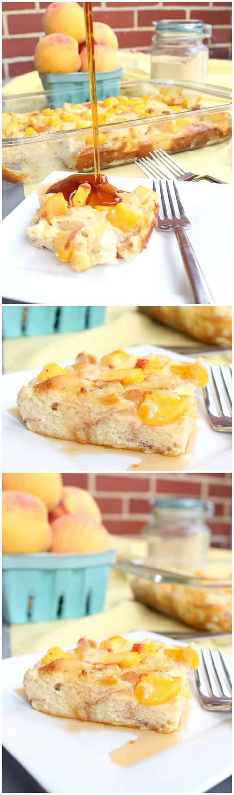 Peaches Cream French Toast Casserole Chocolate With