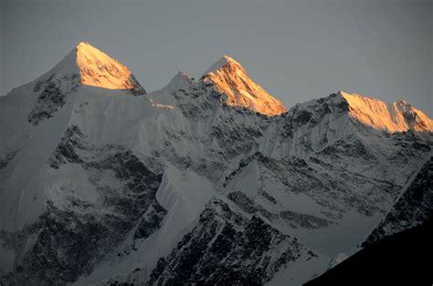 34 Gasherbrum Ii, Gasherbrum Iii North Faces At Sunset