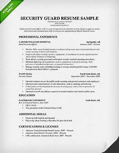 security officer resume sample jennywasherecom With cv template for security guard
