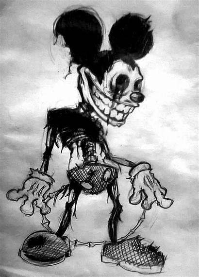Creepy Mouse Mickey Drawings Disney Horror Deviantart