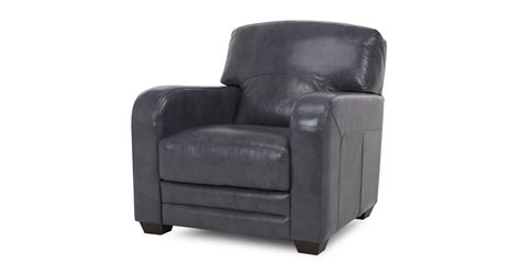 Dfs Cheers Blue Leather 3 Seater Sofa & Armchair Set