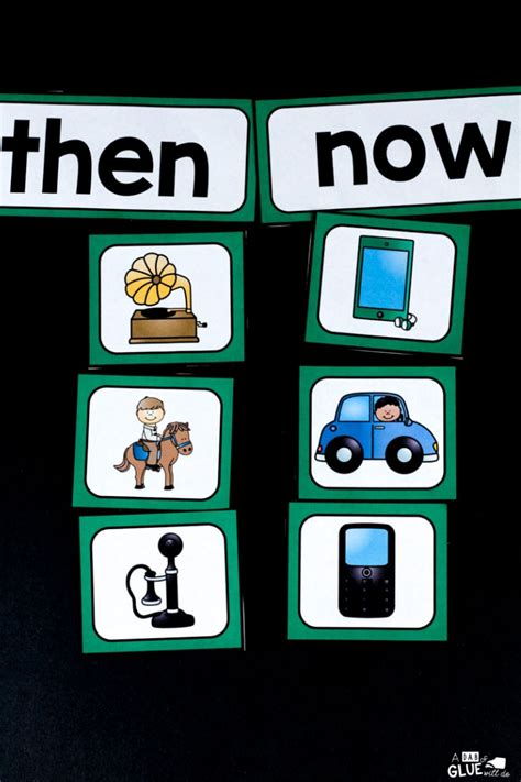 Then and Now Sort Printable