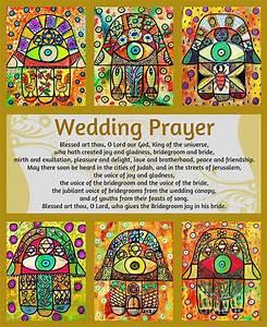 Jewish Wedding Prayer Golden Hamsa Painting by Sandra ...