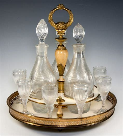 valuable antiques rare antique french empire liqueur cabaret service with baccarat from antiques uncommon
