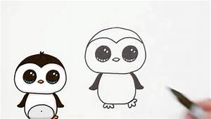 Cute Drawings Of Penguins How To Draw A Cute Cartoon ...
