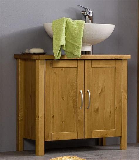 Massivholz Waschbecken Schrank Waschtisch Unterschrank