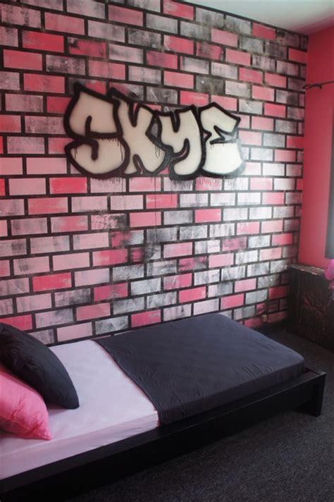 80's Graffiti Themed Girls Bedroom  Modern  Kids New
