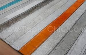 tapis cuir posy home sprit tapis chic le blog With tapis peau de vache avec produit detachant tissu canape