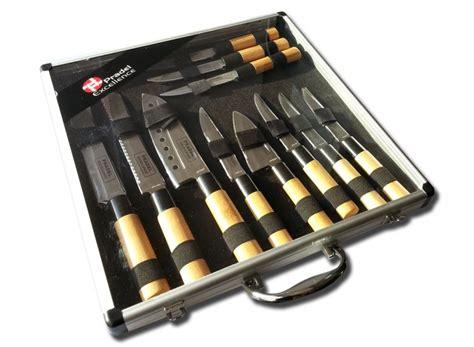 malette de couteaux de cuisine valise de 11 couteaux type japonais pradel excellence