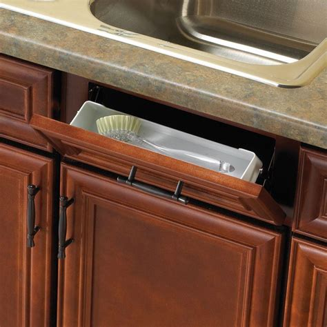 real solutions kitchen organizers upc 029274964221 knape vogt 11 in white sink front 4511