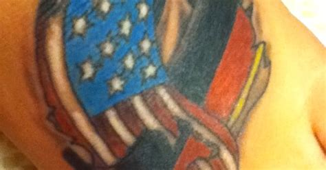 tattoo german  american flag intertwining tattoos