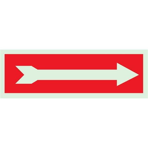 Storage Ideas Kitchen - brady 5 in x 14 in glow in the dark self stick polyester right pointing arrow directional sign