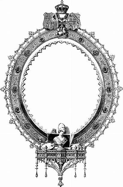 Ornate Digital Oval Frame Stamp Frames Stamps