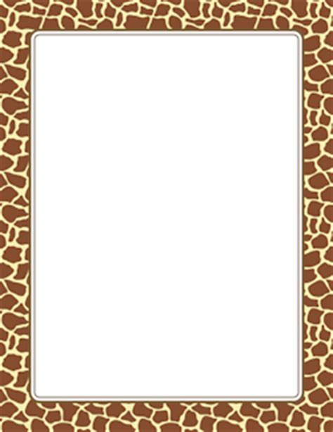 Jungle Safari Leopard Animal Print Wallpaper Border - giraffe print border frame giraffe