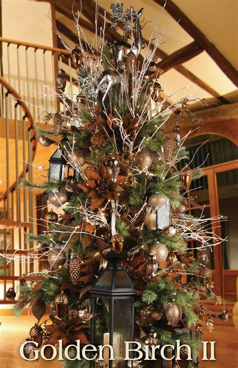 melrose designer christmas tree  golden birch ii