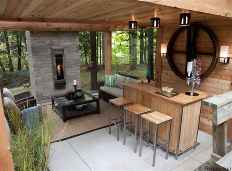 covered patio bar ideas creating the ideal entertaining outdoor home this autumn