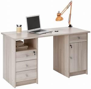 Image Bureau Travail : demeyere meubles bureau monaco 135 cm d cor ch ne collishop ~ Melissatoandfro.com Idées de Décoration