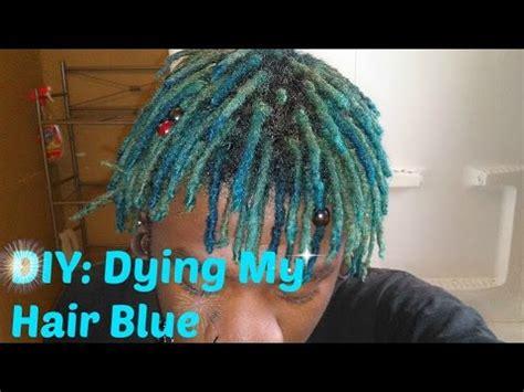 diy dying  hair bluedreadlocksmierejuana youtube
