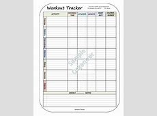 Workout Tracker Fitness Routine Log Daily Exercise
