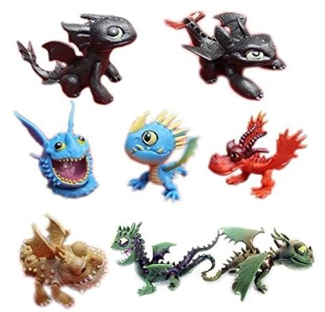 train  dragon playset  figure cake topper