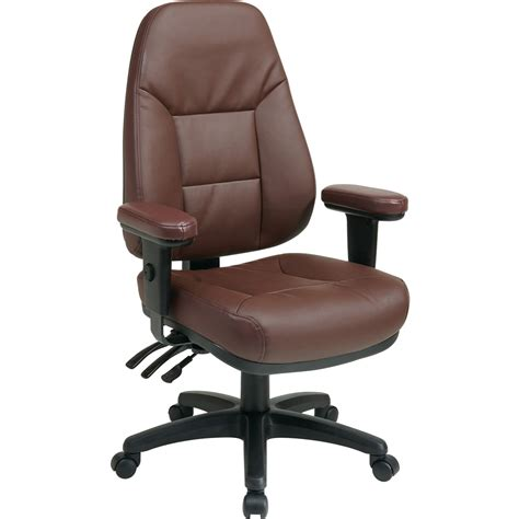 office high back eco leather chair leather burgundy