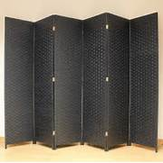 Privacy Screens For Bedrooms Uk by Black 6 Panel Solid Style Wicker Room Divider Hand Made Privacy Screen Separa