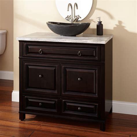 """36"""" Orzoco Vessel Sink Vanity  Espresso Bathroom"""