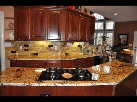 backsplash ideas  granite countertops kitchen youtube