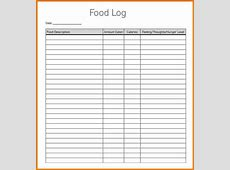 Food log template Authorization Letter Pdf