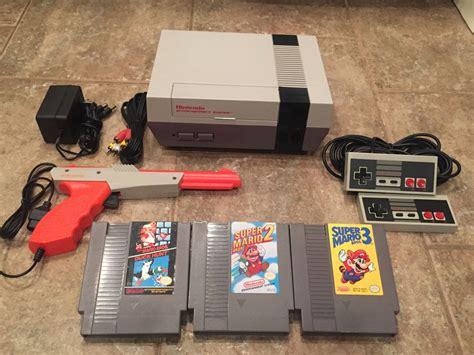 Original Nintendo Console nintendo nes console system mario bros 1 2 3