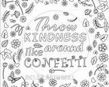 Coloring Confetti Printable Kindness Throw Around Blank Kleurplaat Gelukkig Wat Niet Pagina Meer Je Voor Grown Ups Template Flower Burnell sketch template
