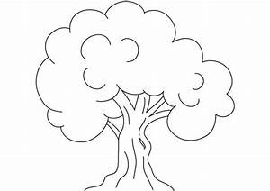 Kids Drawing of an Oak Tree Coloring Page: Kids Drawing of ...