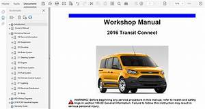 2016 Ford Transit Connect Repair Manual