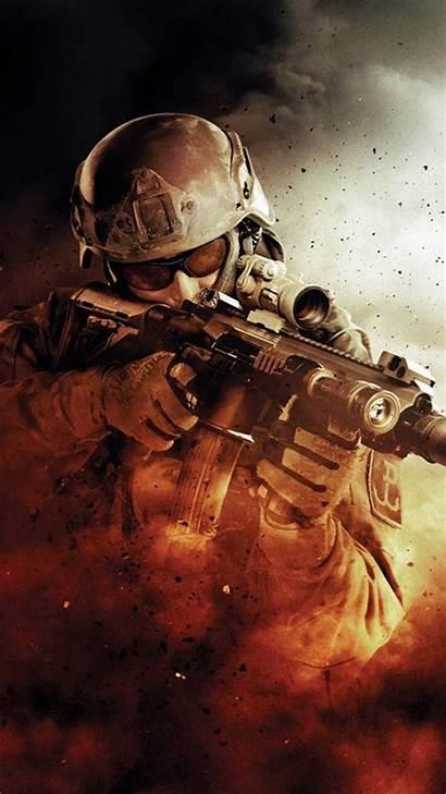Iphone Army Soldier War Gun Fire Fight