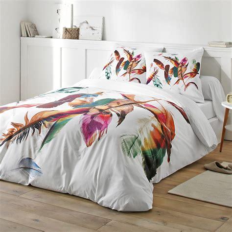 linge de lit plumes 100 coton blancheporte