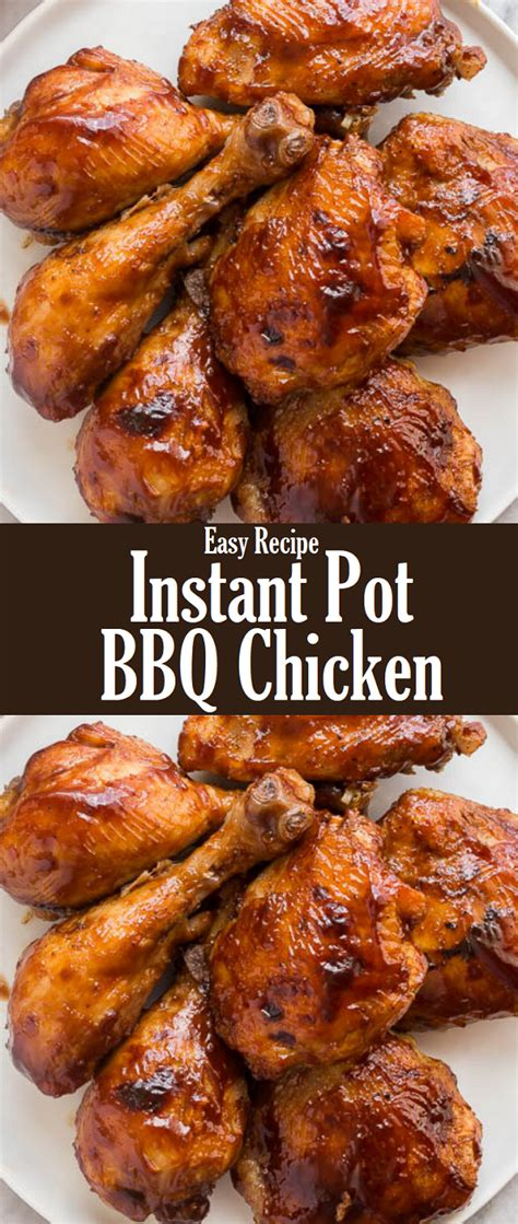 You're hungry and craving bbq but the weather is not cooperating, what are you going to do? Instant Pot BBQ Chicken Recipe - Journal Recipes   Chicken ...