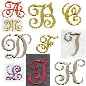 fabric iron  edwardian letters numbers embroidered applique motif  felt ebay