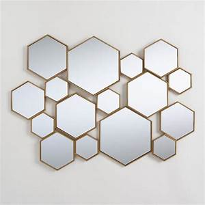 Brass Metal Hexagon Mirror Panel World Market