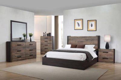 weston bedroom set pc   weathered oak  coaster